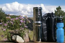 BERKEY Water Filter-GO Berkey Kit (w Sport Bottle, Black Filter, & priming bulb)