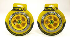 MFX RWILLY SIGNATURE Gold 120mm SCOOTER WHEELS, PAIR w/ BEARINGS INCLUDED