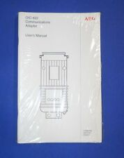 AEG OIC-422 COMMUNICATIONS ADAPTER USER'S MANUAL, LOT OF 10, NNB *PZF*