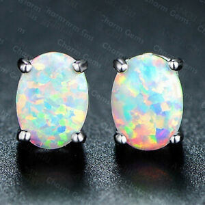 Luxury Women Jewelry White Fire Opal Earring 925 Silver Drop Earring A Pair/set