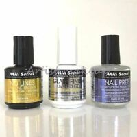 Mia Secret Natural Nail Prep, No Lines Fill Line Eraser & Glass Finish - Choose