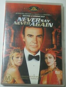 Never Say Never Again - James Bond 007 Sean Connery - rare htf R4 DVD free post