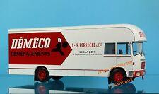 camion BERLIET GBK 75 vehículo de mudanza empresa DEMECO en metal xo 1960 nuevo