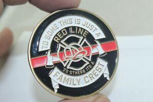 Red Line Fireman's Prayer Challenge Coin