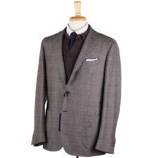 NWT $1750 G.ABO NAPOLI Glen Plaid Wool-Cashmere Sport Coat Slim 44 R Gabo
