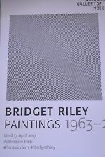 Bridget Riley - Paintings 1963-2015     2017 ART EXHIBITION POSTER