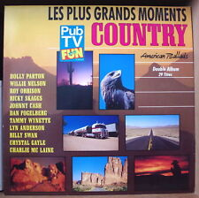 "LES PLUS GRANDS MOMENTS COUNTRY ""AMERICAN BALLADS"" DOUBLE FRENCH LP"