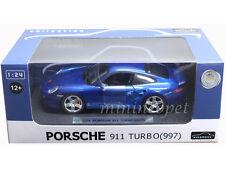 AUTOMAXX 850103 PORSCHE 911 997 TURBO 1/24 DIECAST BLUE