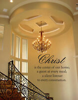 CHRIST IS THE CENTER OF OUR HOME VINYL WALL DECAL QUOTE CHRISTIAN  LETTERING