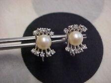 Pendientes de joyería clips de oro blanco