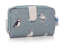 BELLISSIMO Lisa buckridge Rspb Birds tela olio Panno Portafoglio/Borsa PANNA BLU