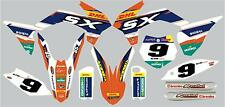 Graphic/decal kit to fit KTM 85 2013 on with PERSONALISED NUMBER BOARDS