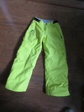 GEOTECH 5.000 Series Youth Boys 140cm (Age 9-10) Yellow Snow Pants Protest Wtrpf