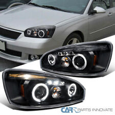 For Chevy 04-07 Malibu Black LED DRL Halo Projector Headlights Head Lamps Pair