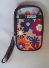 LESPORTSAC Zip Around Cell Phone/Camera/ID Case Wristlet - HAPPY Pattern - NWOT