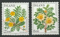 Iceland 1984 Flora Flowers Plants 2 MNH stamps