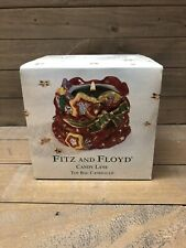 Fitz & Floyd Christmas Candy Lane Toy Bag Candle Cup w/ Box 2001