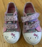Toddler Girls Pink HELLO KITTY No Tie Ice Cream Cone Sparkle Sneakers - Size 7