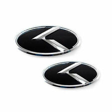 Front Rear 3D K Logo Emblem 2p For 2016 2018 Kia Sorento USA & Canada Only
