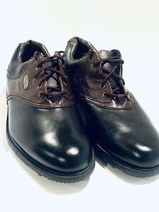 Footjoy Original eComfort 11.5 Mens Leather Golf Shoes Black/Brown 57714 - New