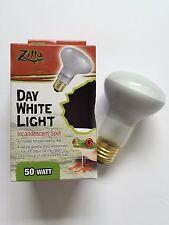 Zilla 50 watt Reptile Day Light UVA White Heat Spot Lamp Bulb