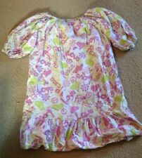 GUC~Girls Handmade Flannel Long Nightgown Size 14-16 Pace Love Warm