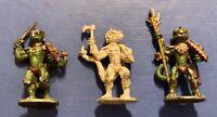 Grenadier Models Fantasy Lords #123 Lizardmen Set of 3 1984 AD&D Warhammer FB