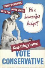 1950s United Kingdom Conservative Party election poster - glossy A4 print