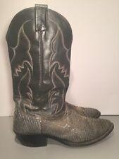 Nocona Gray Snake Skin Leather Cowboy Western Boots Men's Size 10 B