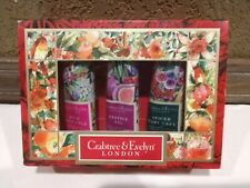 Crabtree & Evelyn Hand Therapy Holiday Earl Grey, Festive Fig, Rose Pineapple