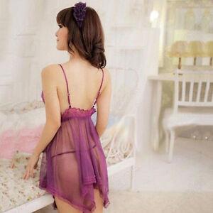 Sexy Dress Women Lingerie Set Nightwear Underwear Sleepwear + G-string Babydoll