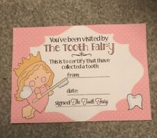Tooth Fairy Certificate Pink