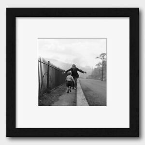 Boy Running Into His Father's Arms in Ebbw Vale Wales 1960 Print