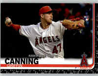 2019 Topps Update GRIFFIN CANNING Black Parallel /67 Angels Rookie Debut #US34