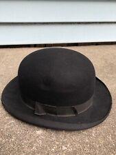 Vintage Original Stetson Boller Hat Derby Hat Fedora Black