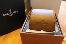 100% Genuine New Authentic Breitling Watch Storage Box and Leather Travel Case.
