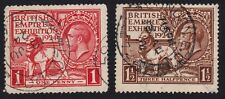 GB 1924 BEE 2v set USED rough condition on 1d @P945