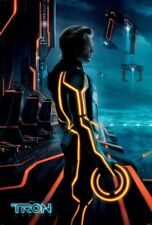 Tron Legacy Movie Poster 2 Sided Original Left Exl 27x40 Jeff Bridges