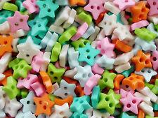 100! 6mm Estrellas-Tiny Micro Craft Star Botones-Dulce Color Mix botón