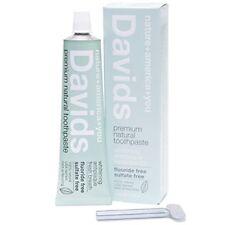 Davids Natural Toothpaste Whitening Antiplaque Fluoride-Free SLS-Free Pepperm...