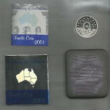2001 FIVE DOLLAR SILVER PROOF COIN -* FINALE COIN* -*CENTENARY OF FEDERATION*
