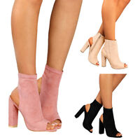 Fashion Ladies Platform High Block Heel Sandals Open Toe Ankle Boots Shoes New
