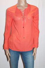 Paper Scissors Brand Orange Flared Long Sleeve Top Size 8-XS BNWT #SN51