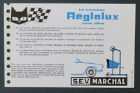 Publicité automobile MARCHAL REGLOLUX 1975 catalogue catalog dépliant