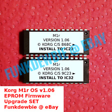 Korg M1r Os version 1.06 Eprom Firmware Upgrade Set / New Rom Final Update Chips