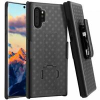 GALAXY NOTE 10 PLUS - CASE SWIVEL BELT CLIP ARMOR HOLSTER COVER KICKSTAND COMBO
