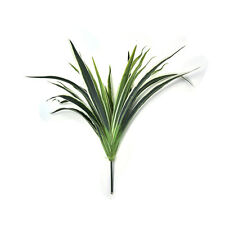 Artificial Fake Plastic  Green Long Leaves bracketplant Grass Plant Home FO