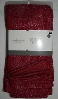 Threshold Napkins 4 ct Red Silver Fabric Ruby Ring Color Holiday Reusable 20x20
