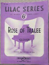 Rare Vintage Original Uk Sheet Music,Rose of Tralee, Piano, Lilac Series