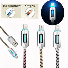 LED Micro Braided Sync Charge USB Data Cable for iPhone 7 Plus Samsung
